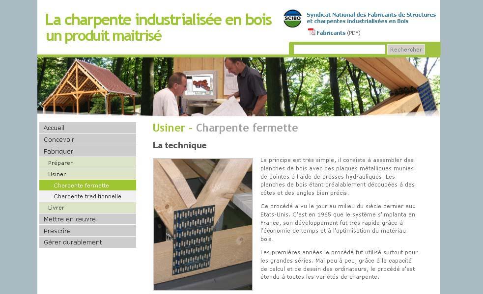 un site internet pour les charpentes industrielles