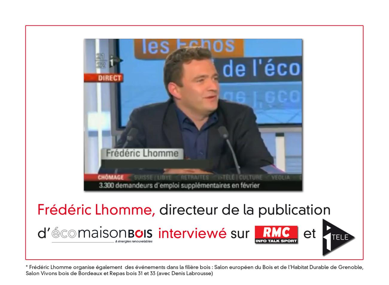 Interview de Frederic Lhomme sur itélé et RMC
