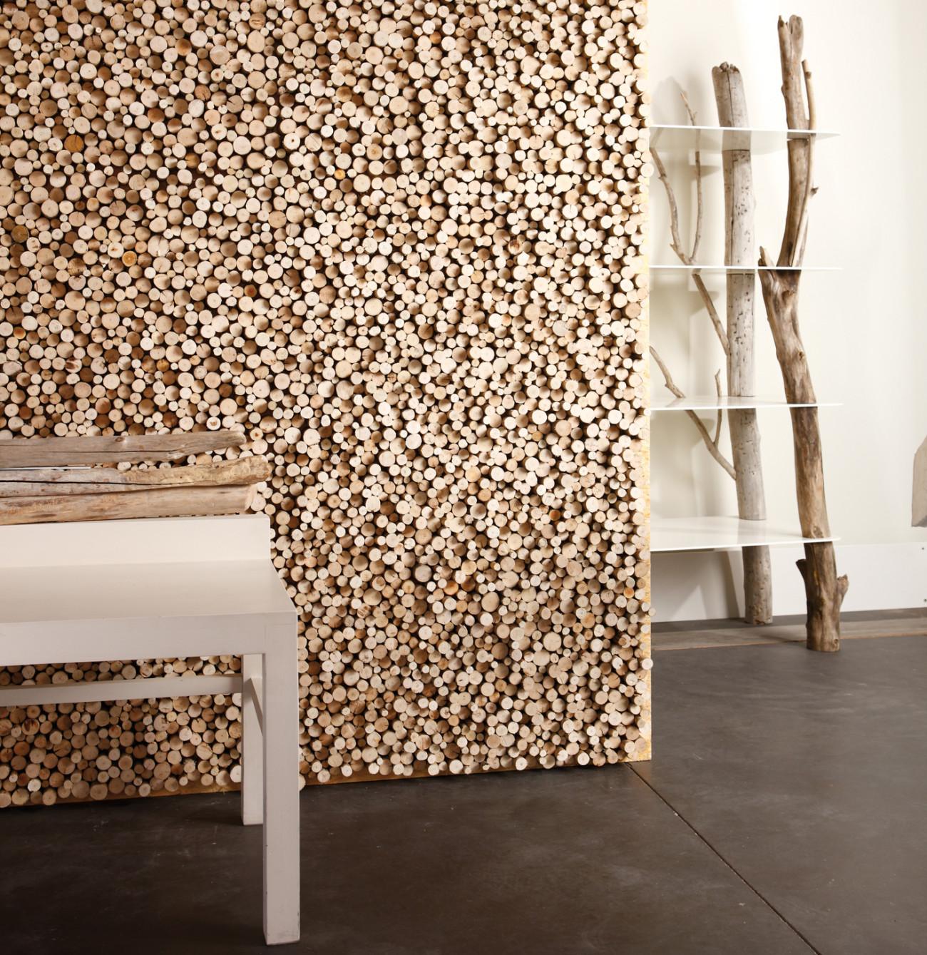 Mur de bois flotté - Eco Maison Bois