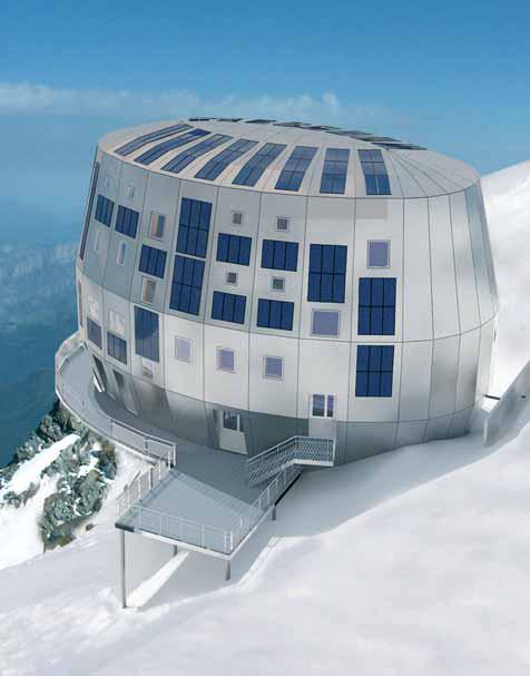 un refuge en bois à 3835 m d'altitude