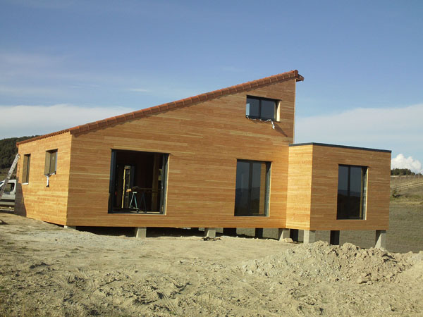 Maison à ossature bois témoin de l'entreprise Bati'oc