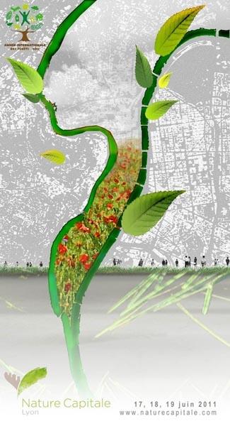 plateau végétal sur les champs Elysées