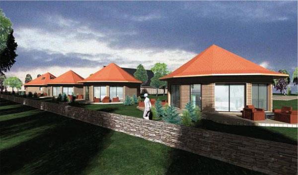 Une maison bois ronde pour passer vos vacances