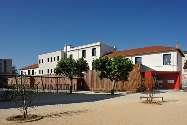 L'extension bois d'une école