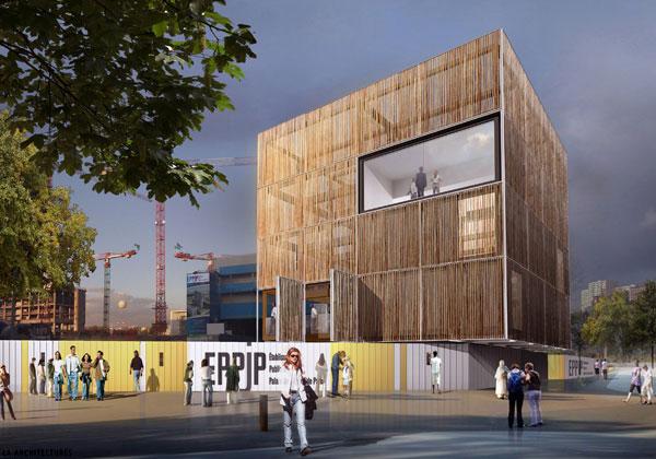Le projet du futur palais de justice gagnant de la catégorie 'Batiment collectif et équipement' du concours construction bois 2011