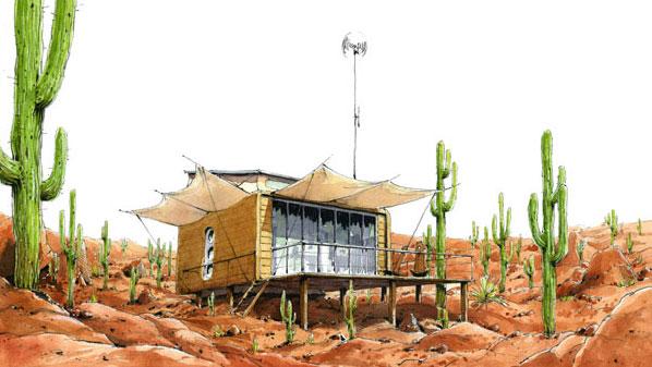 Maison bois écologique et ... portable!