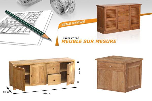 Le mobilier en bois massif sur mesure sur internet