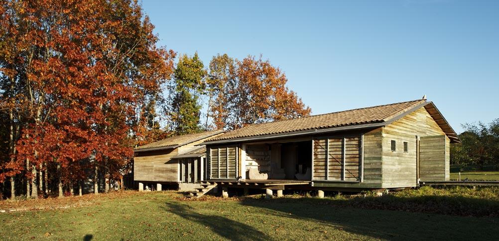 Maison à ossature bois en auto-construction