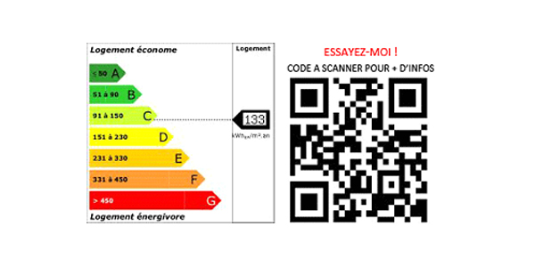 le diagnostic de performance énergétique accessible ddepuis un QR code