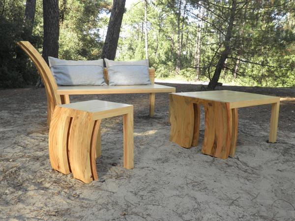 Récupération du bois de tempete pour faire du mobilier