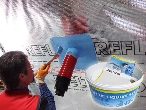 solution liquide pour assurer l'étanchéité à l'air