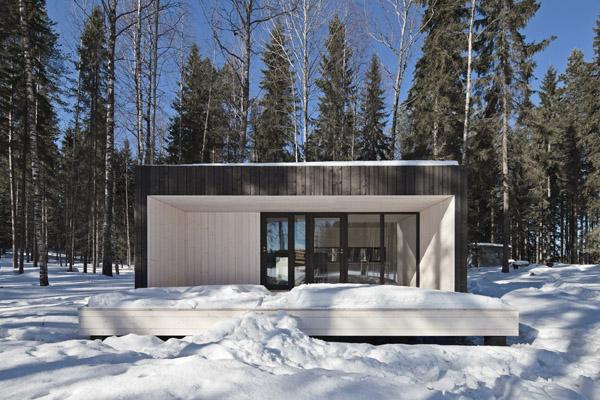 maison bois secondaire d'architecte