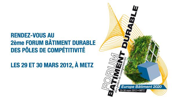 programme du 2ème forum batiment durable des poles de compétitivité