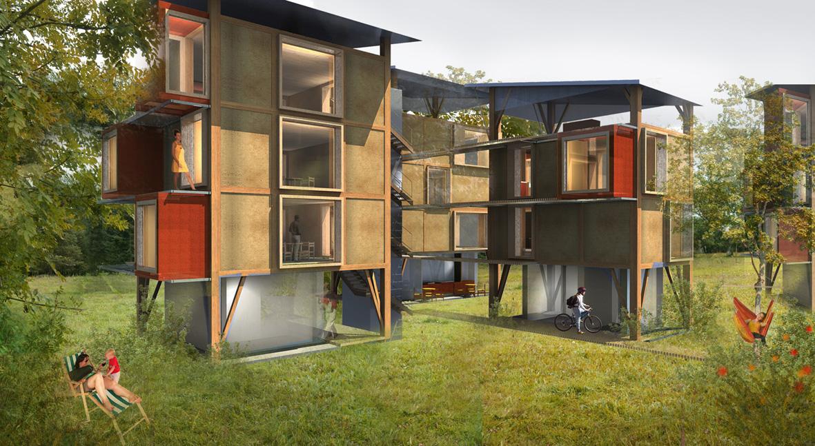 Projet d'étudiant au concours de la construction bois