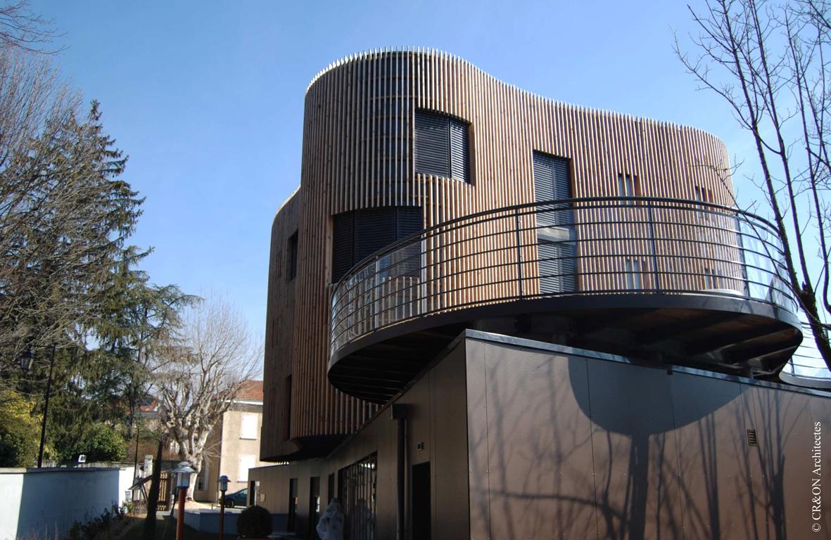 Bâtiment collectif primé au concours de la construction bois