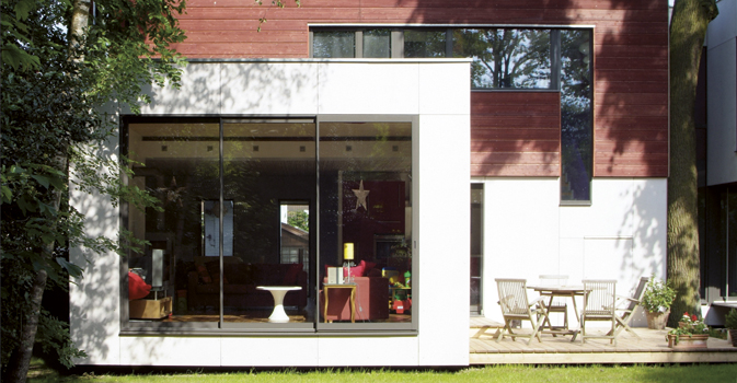 Nos reportages maison bois eco maison bois - Maison contemporaine construite autour dun arbre ...