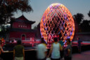 L'oeuf en bois est arrivé à Pekin