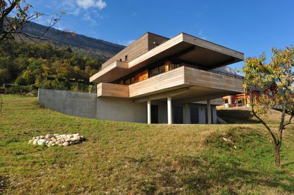 Maison ossature bois contemporaine en Savoie - Eco Maison Bois