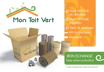 """Kit """"Mon toit vert"""", le nouveau toit végétalisé de Vertige®"""
