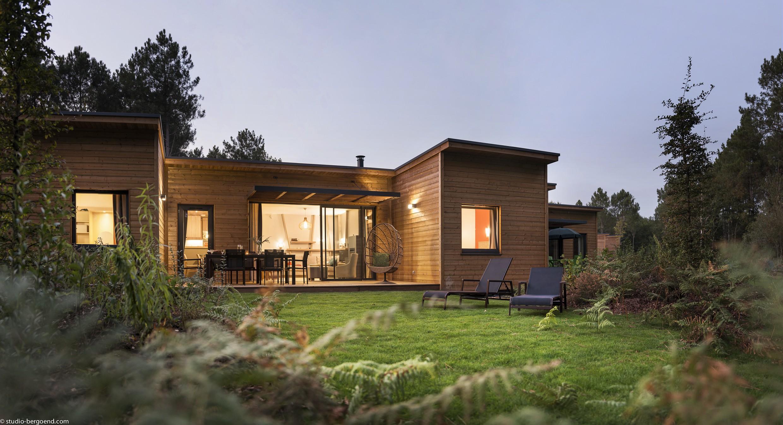 Cottages en ossature bois du nouveau Center Park