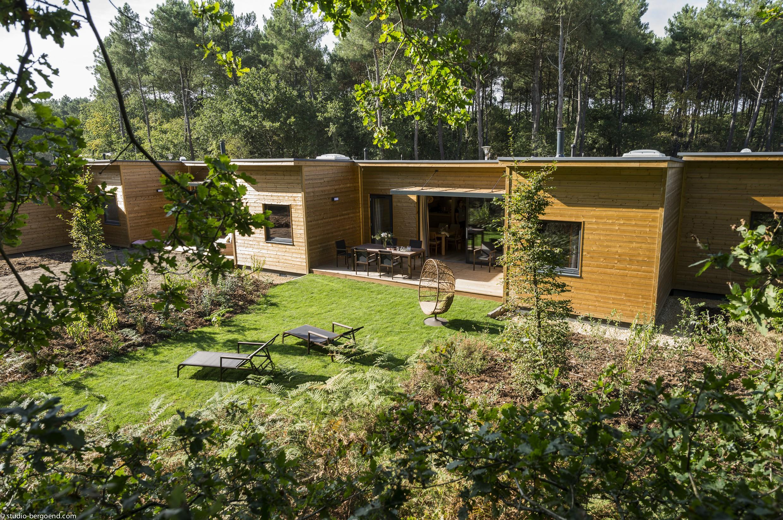 Cottage en bois du futur Center Park : le Domaine du bois aux Daims