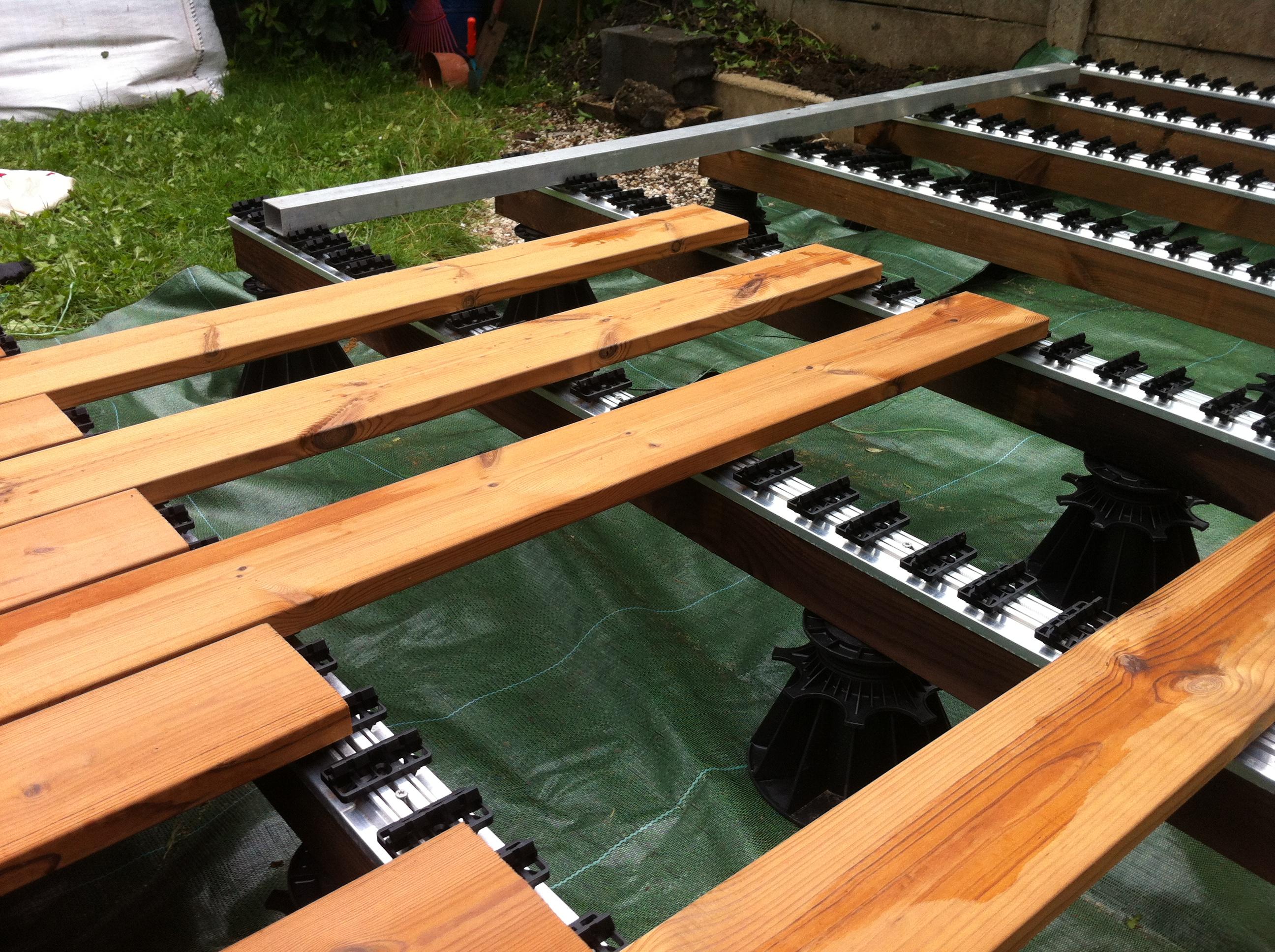 Système Rail pour terrasse par grad