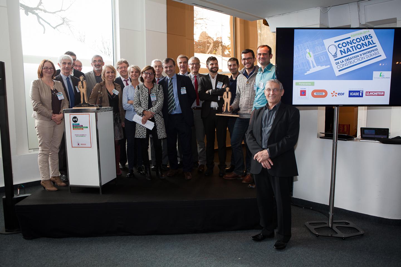 Les lauréats du concours national de la création d'entreprises en construction durable
