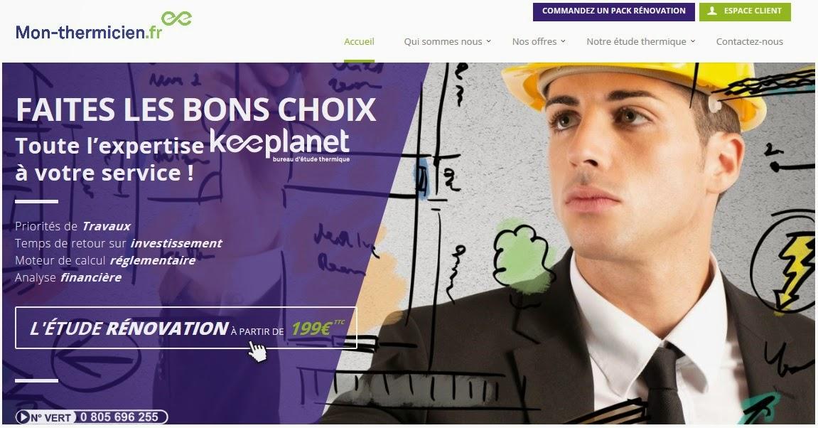 Mon-thermicien.fr : le bureau d'étude thermique 2.0