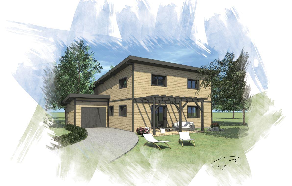 OSSA Kit - maison bois modèle 180 m²