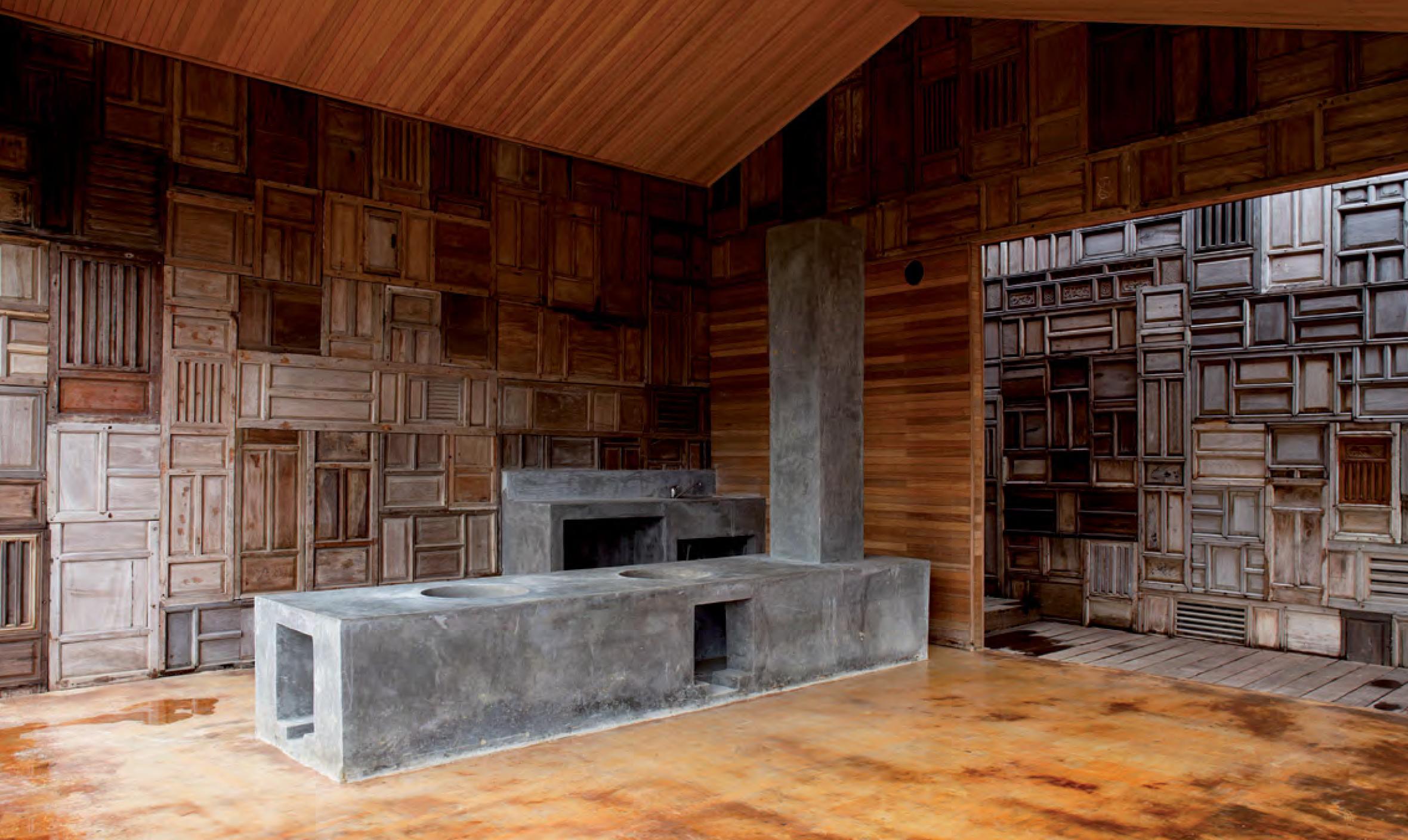 Intérieur d'une des villas