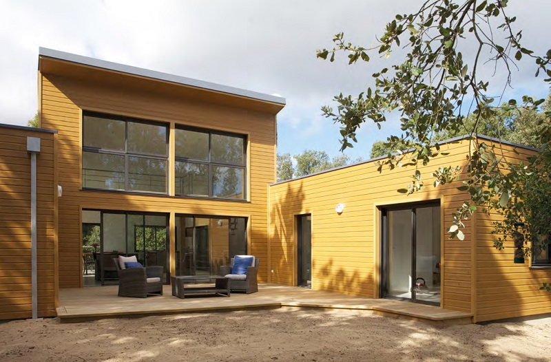 Maison en bois sur l'île d'Oléron