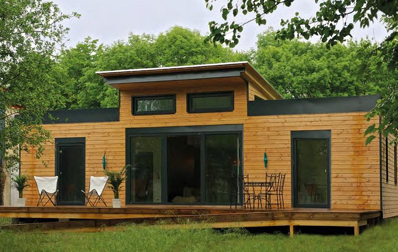 Maison en bois à énergie positive