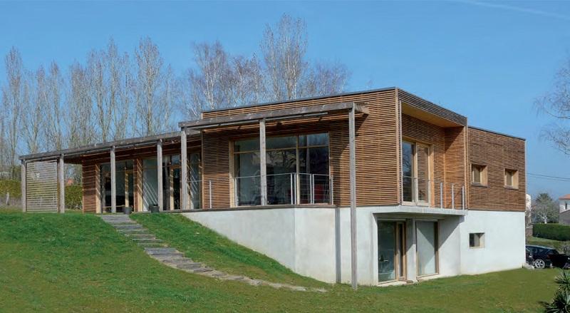 Maison bois avec vue sur la Loire