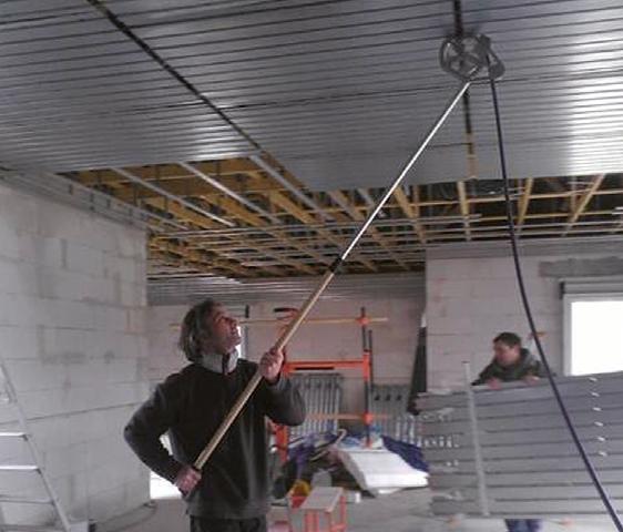 Pose du plafond chauffant : Planifo par Innovert