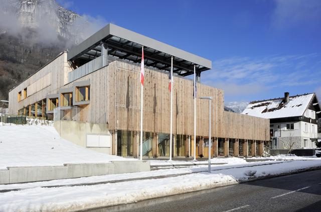 projet bois Centre communal multifonctionnel de Saint Jean-d'Arvey