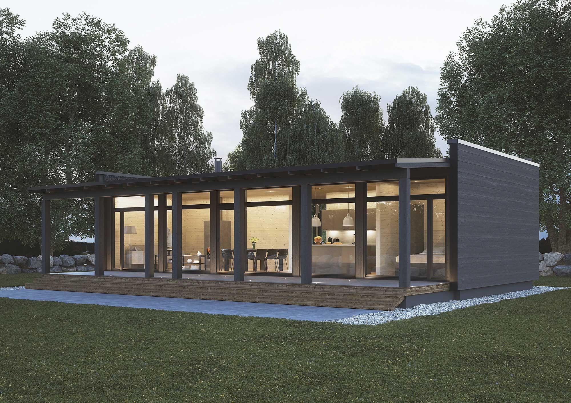 Maison Bois Avis la maison de verre ou glass house kontio - eco maison bois